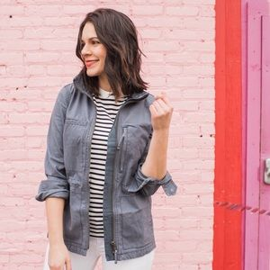 Madewell Fleet Utility Jacket in Ink Blue small